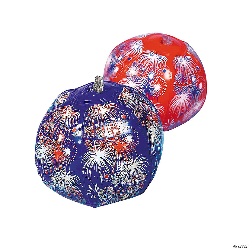 Inflatable Mini Patriotic Fireworks Beach Balls