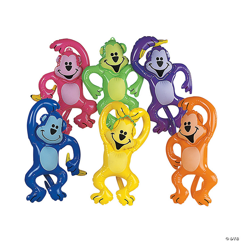 Inflatable Neon Monkeys