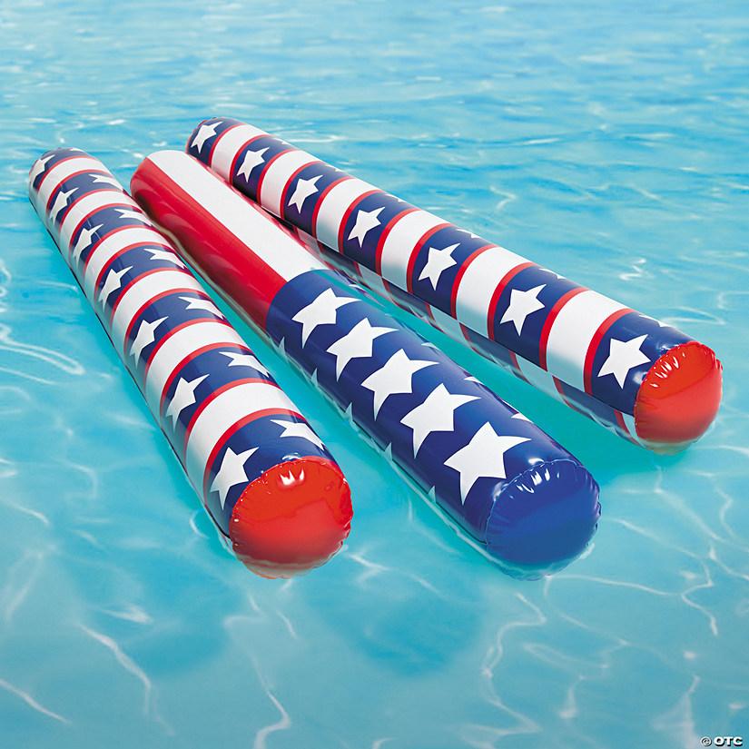 Inflatable Patriotic Pool Noodles
