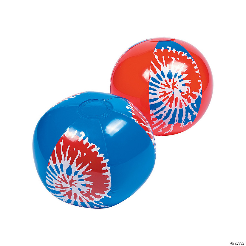 Inflatable Patriotic Tie-Dyed Beach Balls