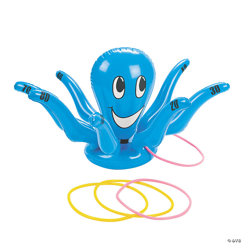 Inflatable Smiling Octopus Ring Toss Game