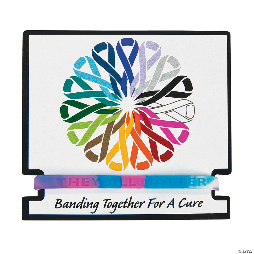 Inspiring Awareness Rubber Bracelets with Card