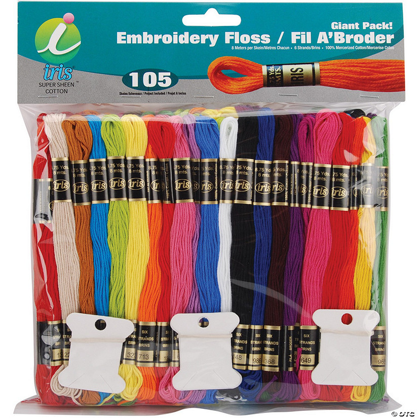 Iris Embroidery Floss Giant Pack 105/Pkg