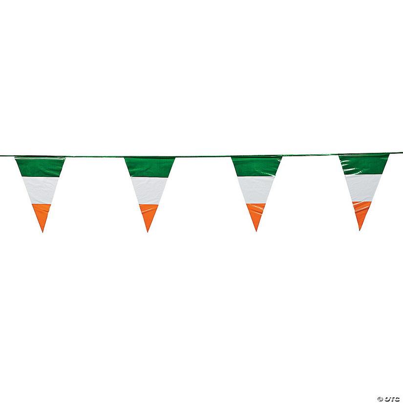 Irish Flag Plastic Pennant Banner