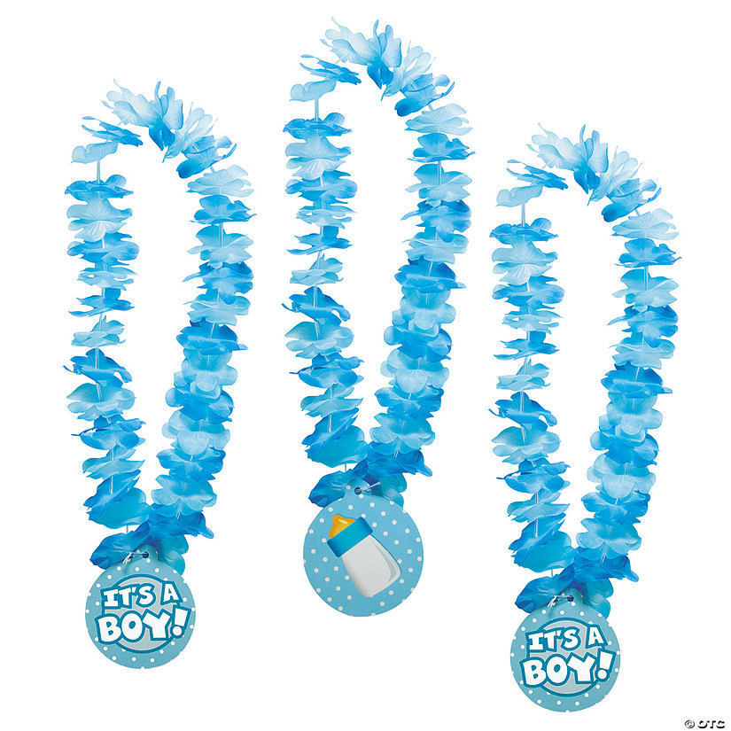 It's A Boy Baby Shower Leis