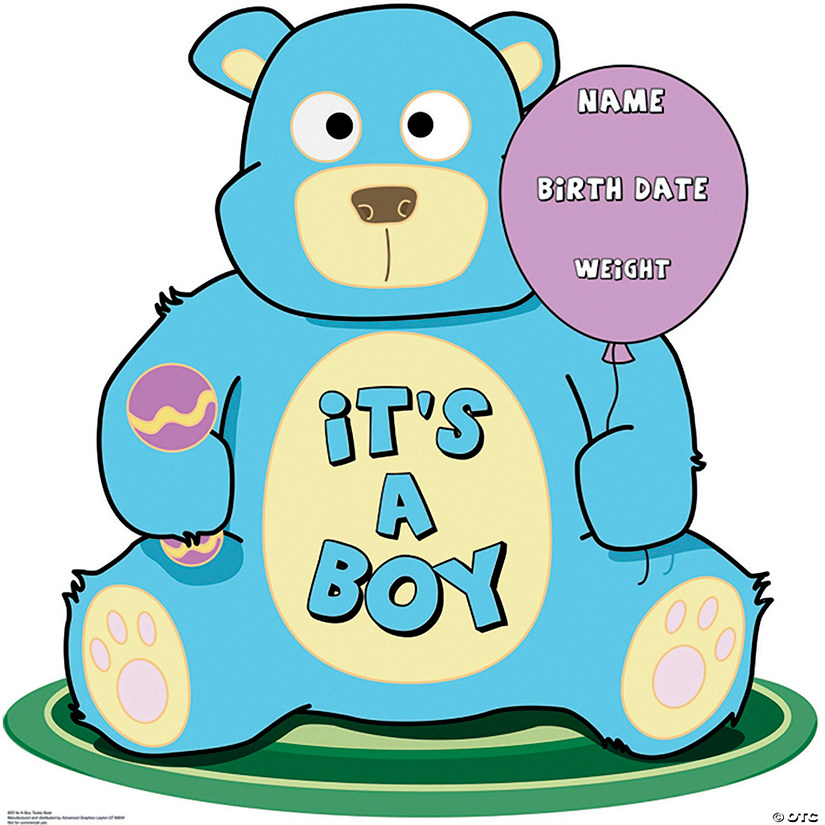 It's A Boy Teddy Bear Cardboard Stand-Up