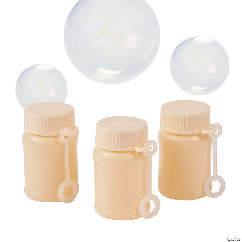 Ivory Mini Bubble Bottles