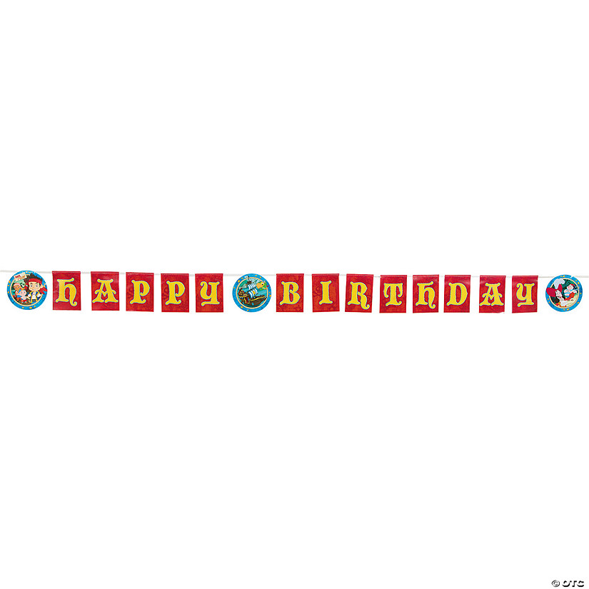 "Jake & the Never Land Pirates™ ""Happy Birthday"" Plastic Banner"