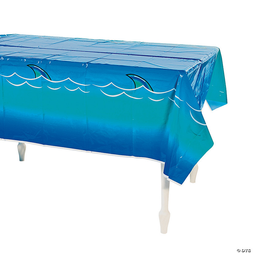 Jawsome Shark Plastic Tablecloth