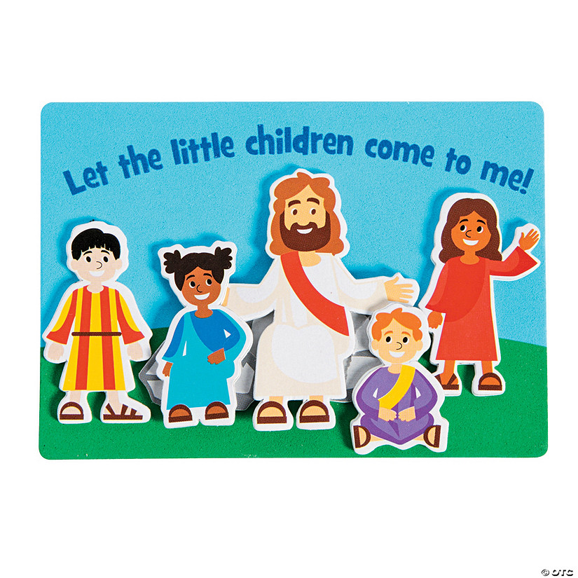 Jesus & the Children Magnet Craft Kit