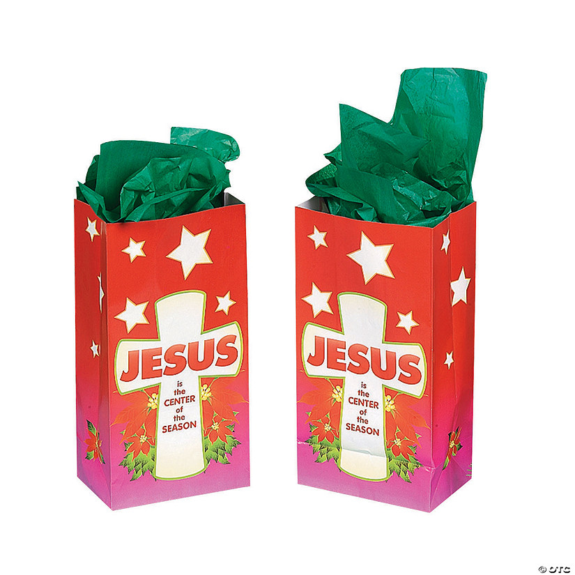 Jesus Is the Center of the Season Treat Bags