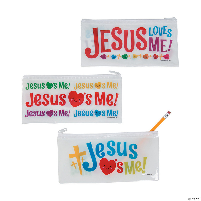 Jesus Loves Me Pencil Bags