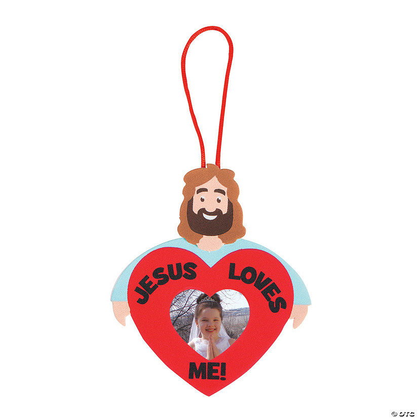 Jesus Loves Me Photo Frame Ornament Craft Kit