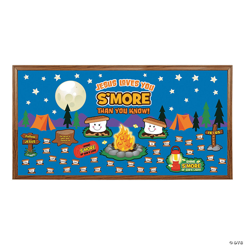 Jesus Loves You S'More Bulletin Board Set