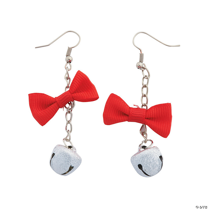 Jingle Bell Bow Earrings Craft Kit