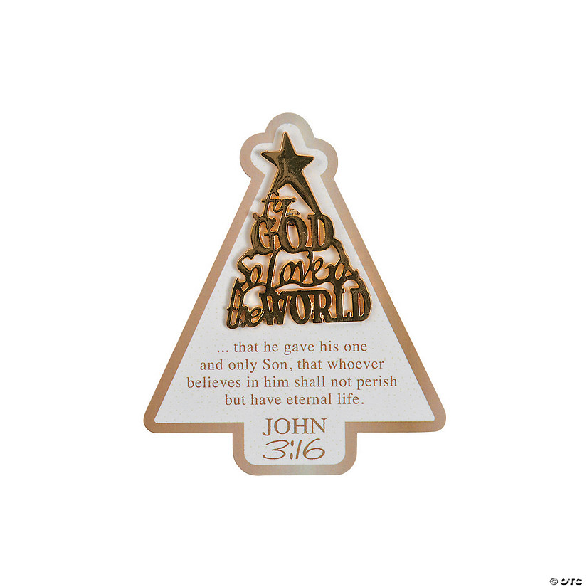 John 3:16 Christmas Tree Pins on Card