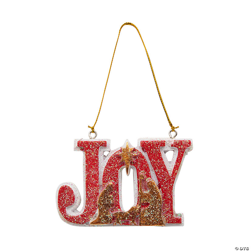 """Joy"" Nativity Ornaments"