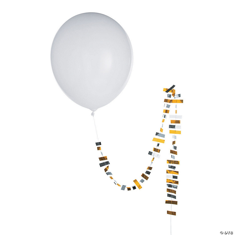 "Jumbo 36"" Latex Balloons with Metallic Tassel"