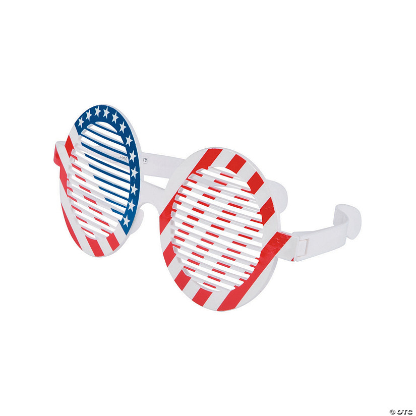 Jumbo Patriotic Shutter Glasses - 12 Pc.