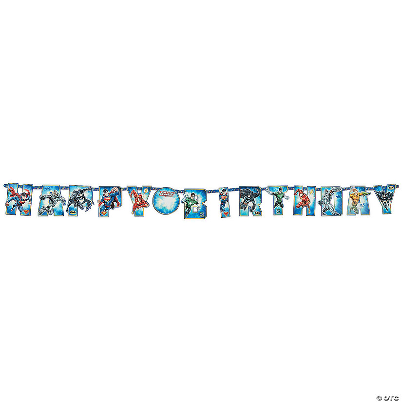 Justice League™ Add-an-Age Jumbo Letter Paper Banner