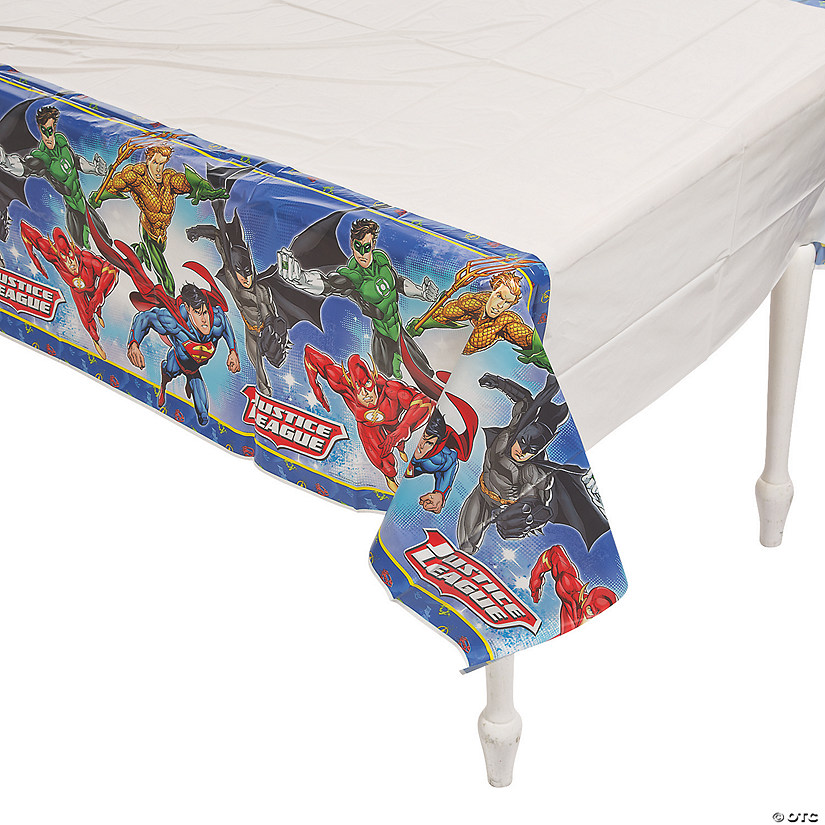Justice League™ Plastic Tablecloth