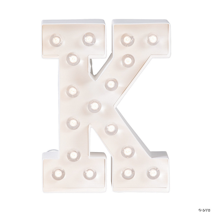 """K"" Marquee Light-Up Kit"