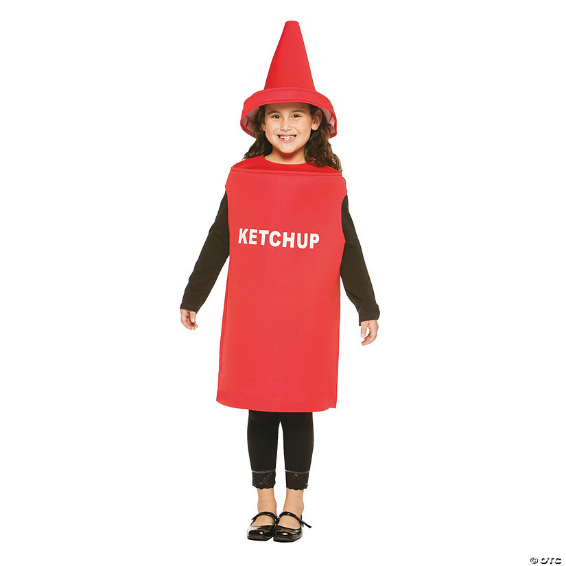 Kid's Ketchup Costume - Medium