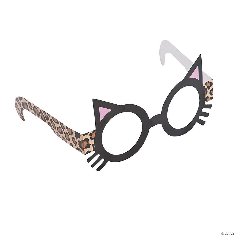Kid's Sassy Cat Paper Glasses