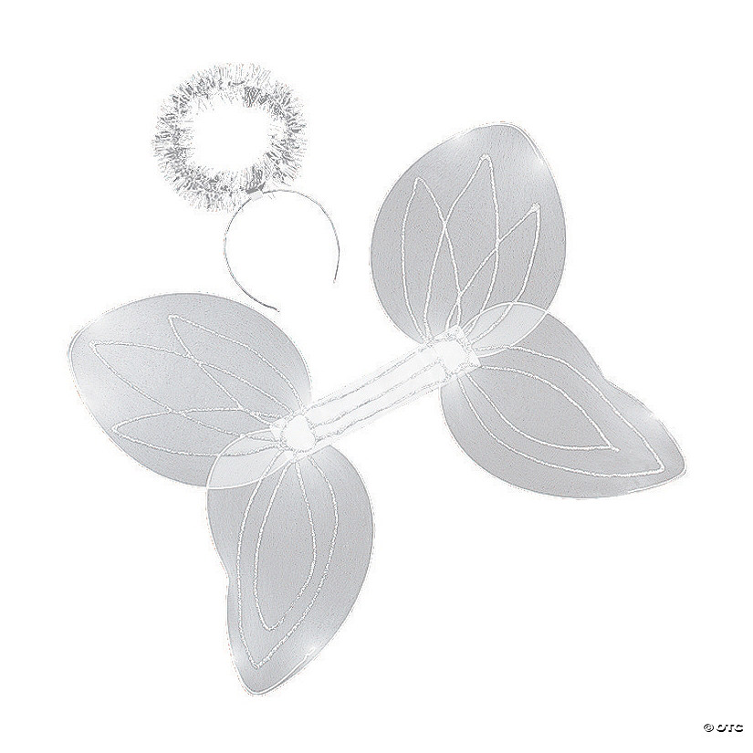 Kid's White Angel Wings & Halo Headband