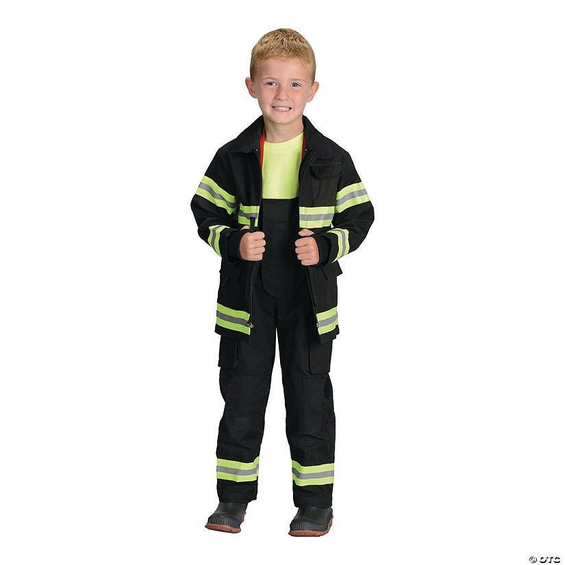Kid's Black Firefighter Costume