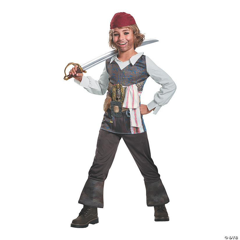 Kid's Classic Pirates of the Caribbean 5 Captain Jack Costume