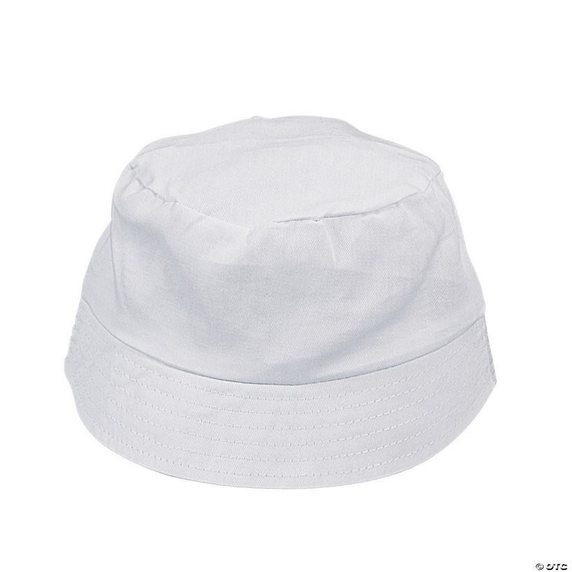 Kids' DIY White Bucket Hats - 12 pcs.