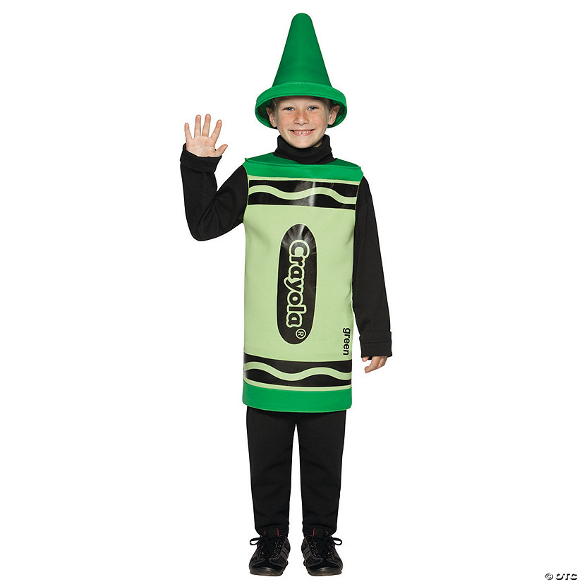 Kid's Green Crayola<sup>®</sup> Crayon Costume