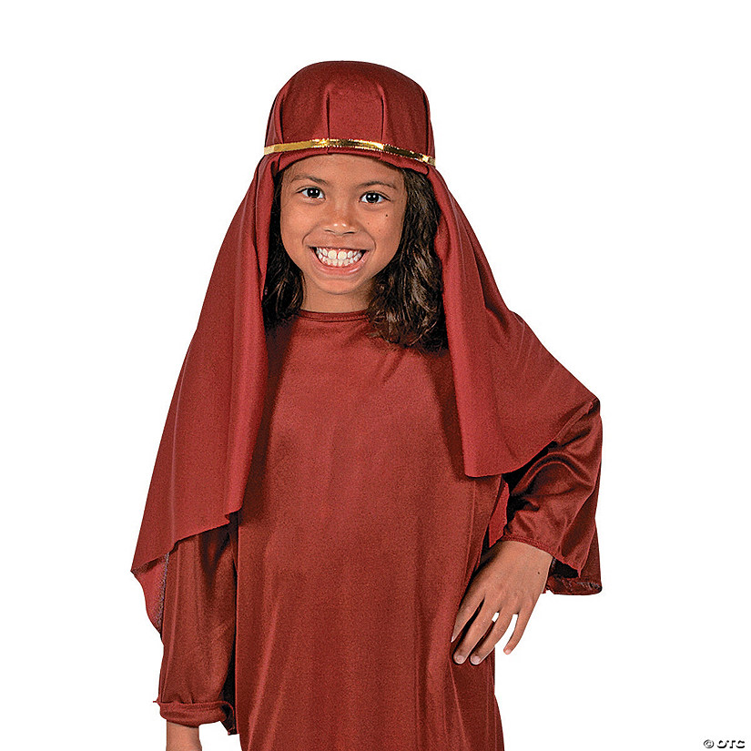 Kids' Maroon Nativity Hat