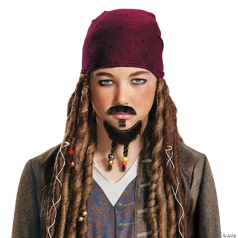 Kid's Pirates of the Caribbean 5 Goatee & Mustache