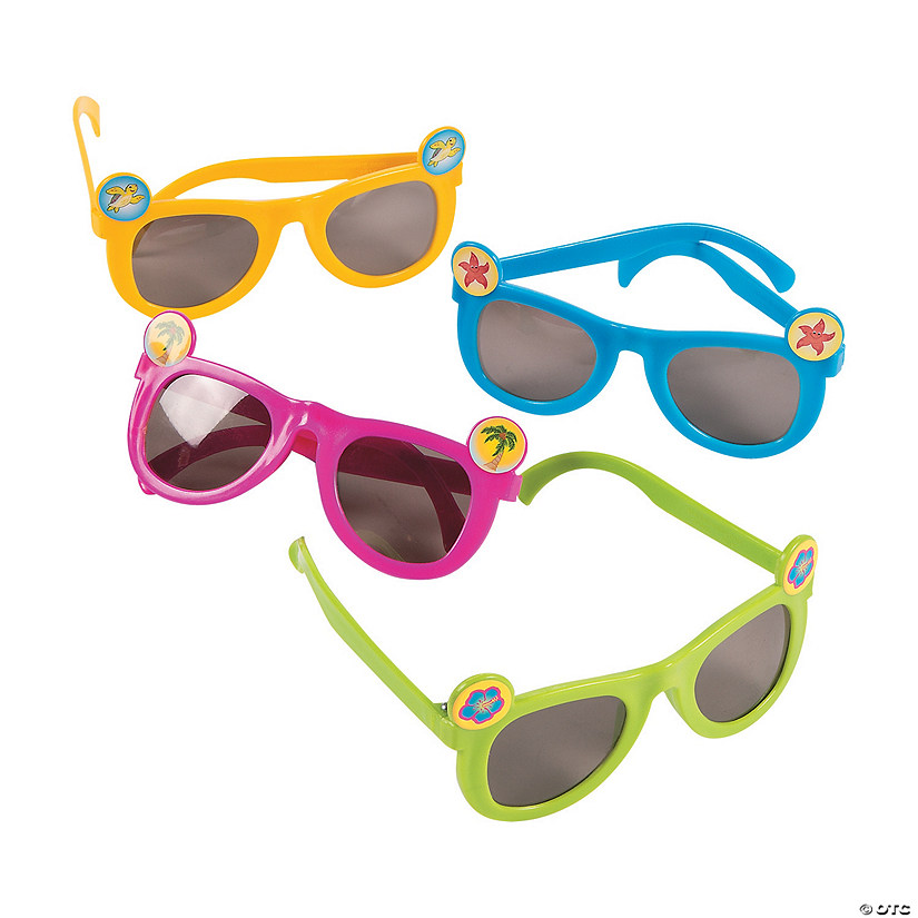 Kids' Tropical Icon Sunglasses - 12 Pc.