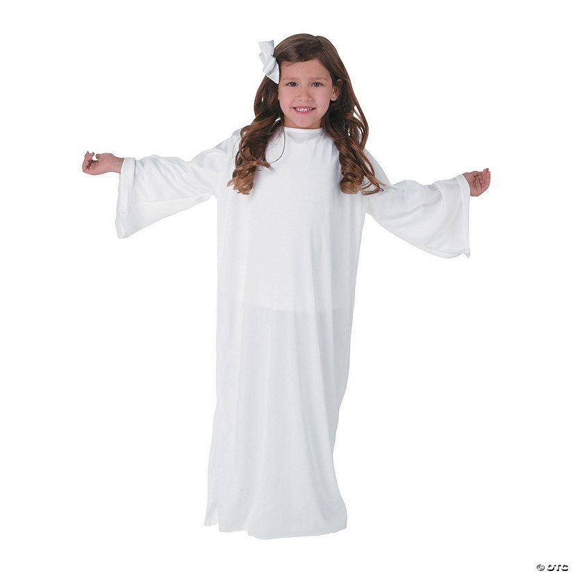 Kids' White Angel Gown - S/M