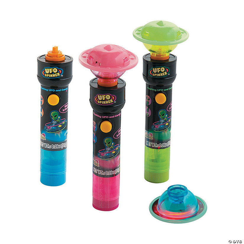 Kidsmania<sup>®</sup> UFO Spinner<sup>™</sup> Flashing Toy with Candy