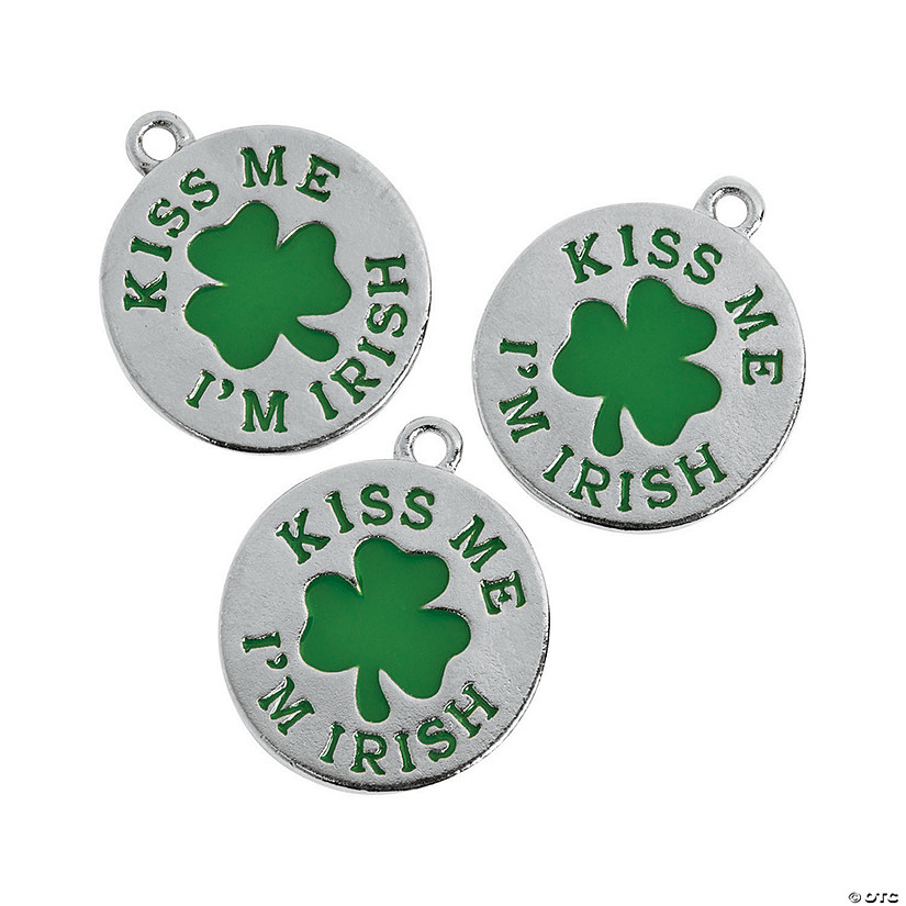 Kiss Me I'm Irish Charms