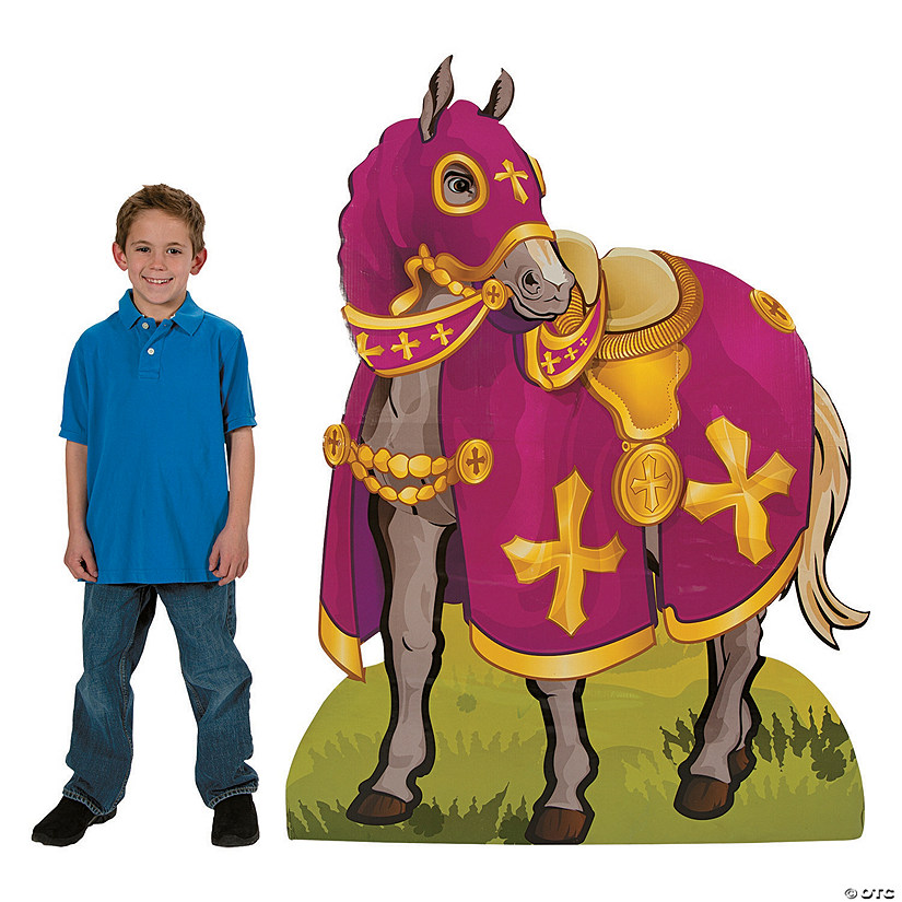 Knight's Horse Cardboard Stand-Up