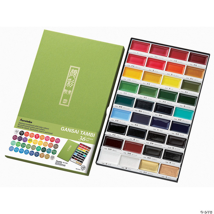 Kuretake Gansai Tambi 36 Color Set-assorted colors