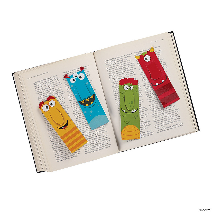 Laminated Big Nose Monster Bookmarks