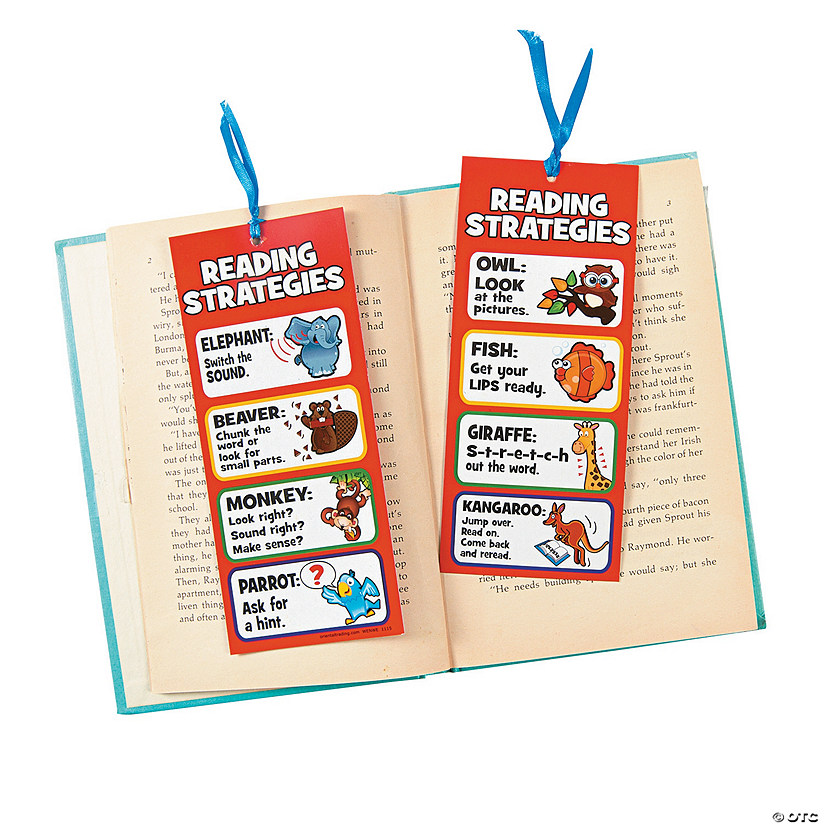 Laminated Jumbo Reading Strategies Bookmarks