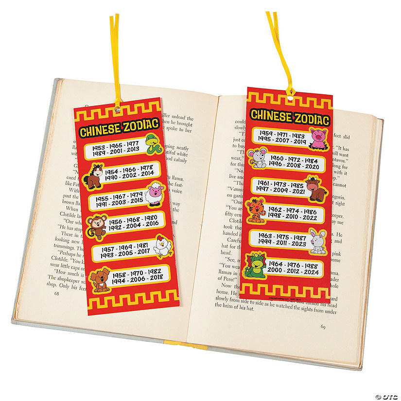 Laminated Jumbo Zodiac Bookmarks