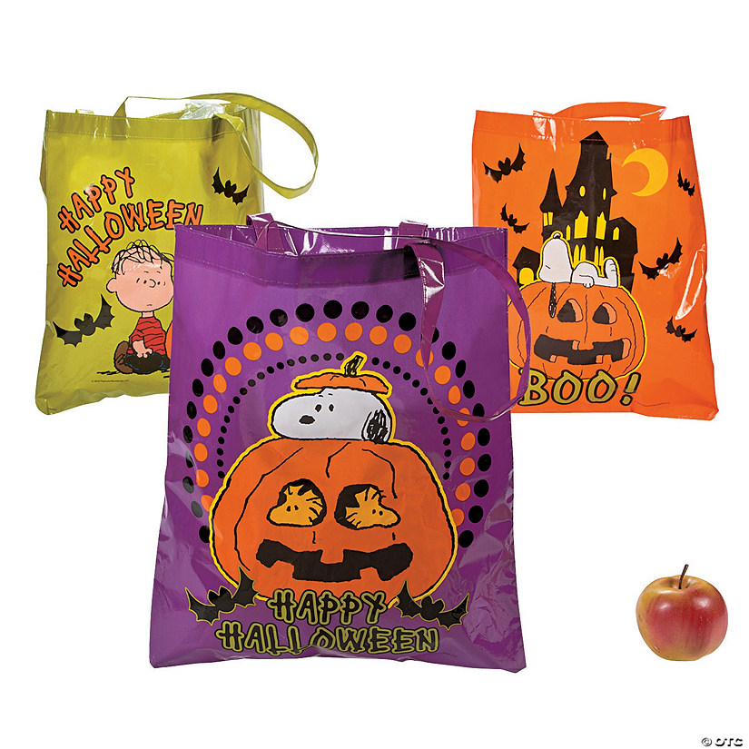 Laminated Peanuts® Halloween Tote Bags