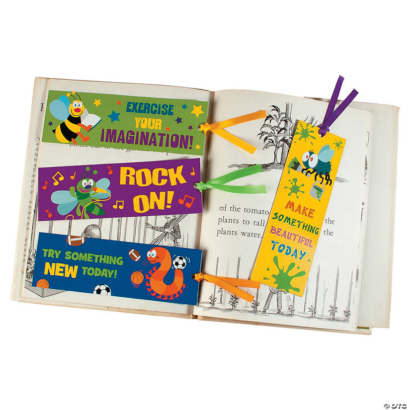 Laminated Playful Bug Bookmarks
