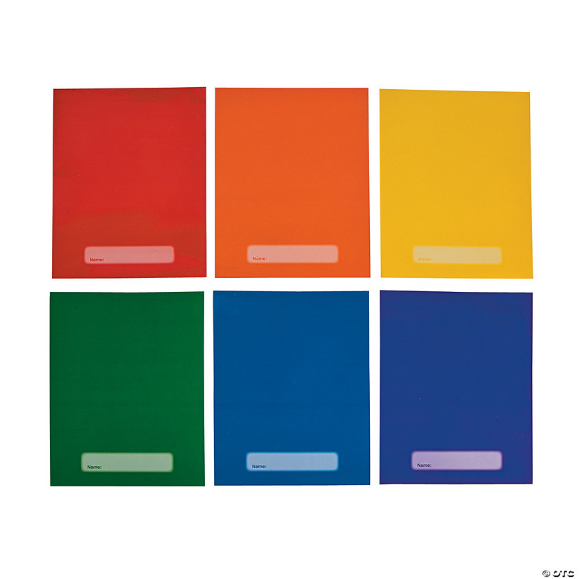 Laminated Rainbow Pocket Folders