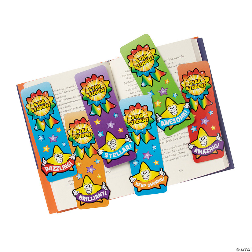 Laminated Star Student Bookmarks
