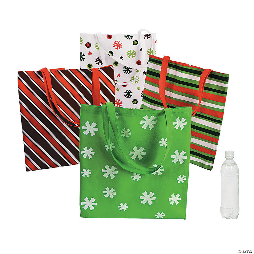Large Basic Christmas Tote Bags