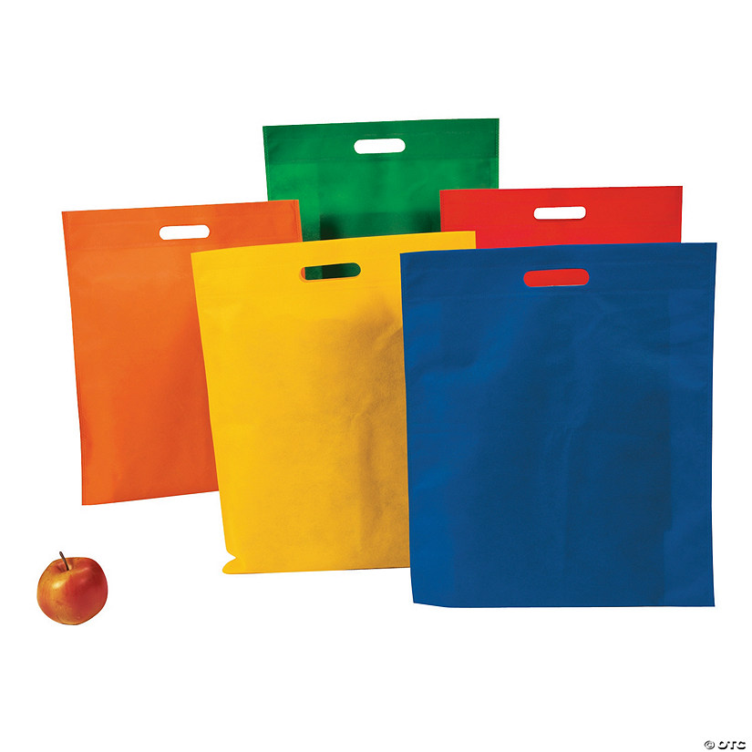 Large Bright Cutout Handle Tote Bags